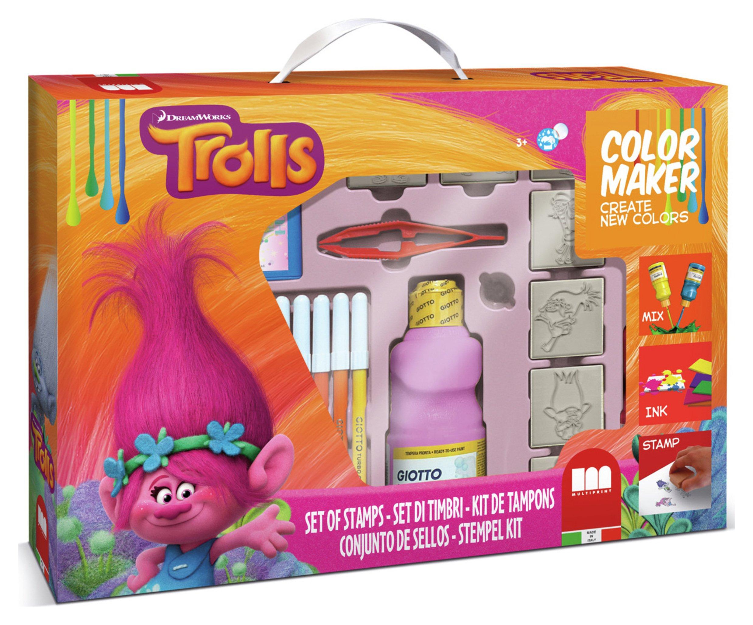 Trolls Colour Maker Ink Stamper Set. review