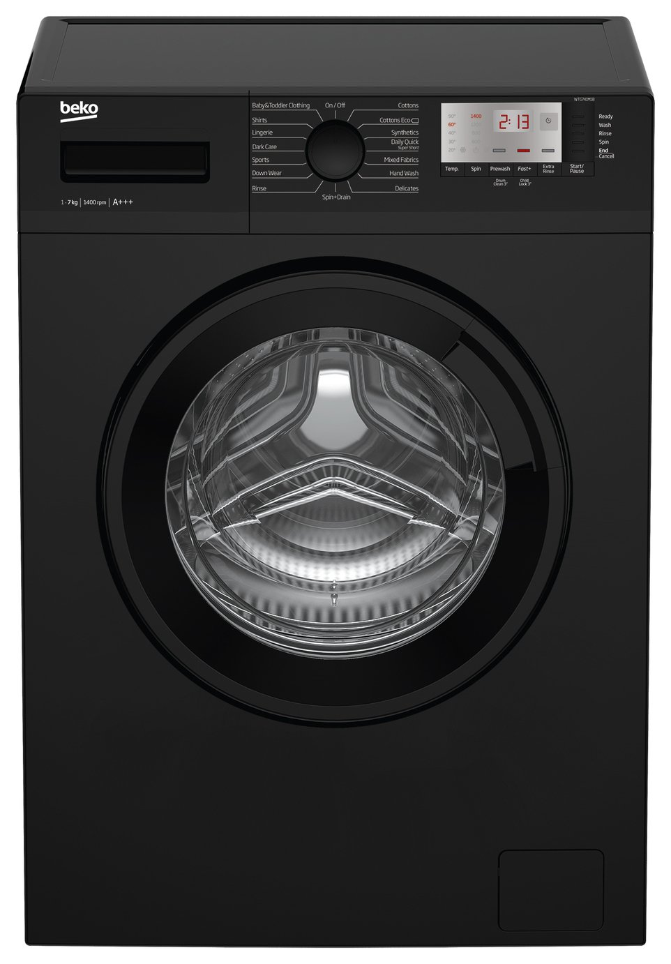 Beko WTG741M1B 7KG 1400 Spin Washing Machine Black & Installation review