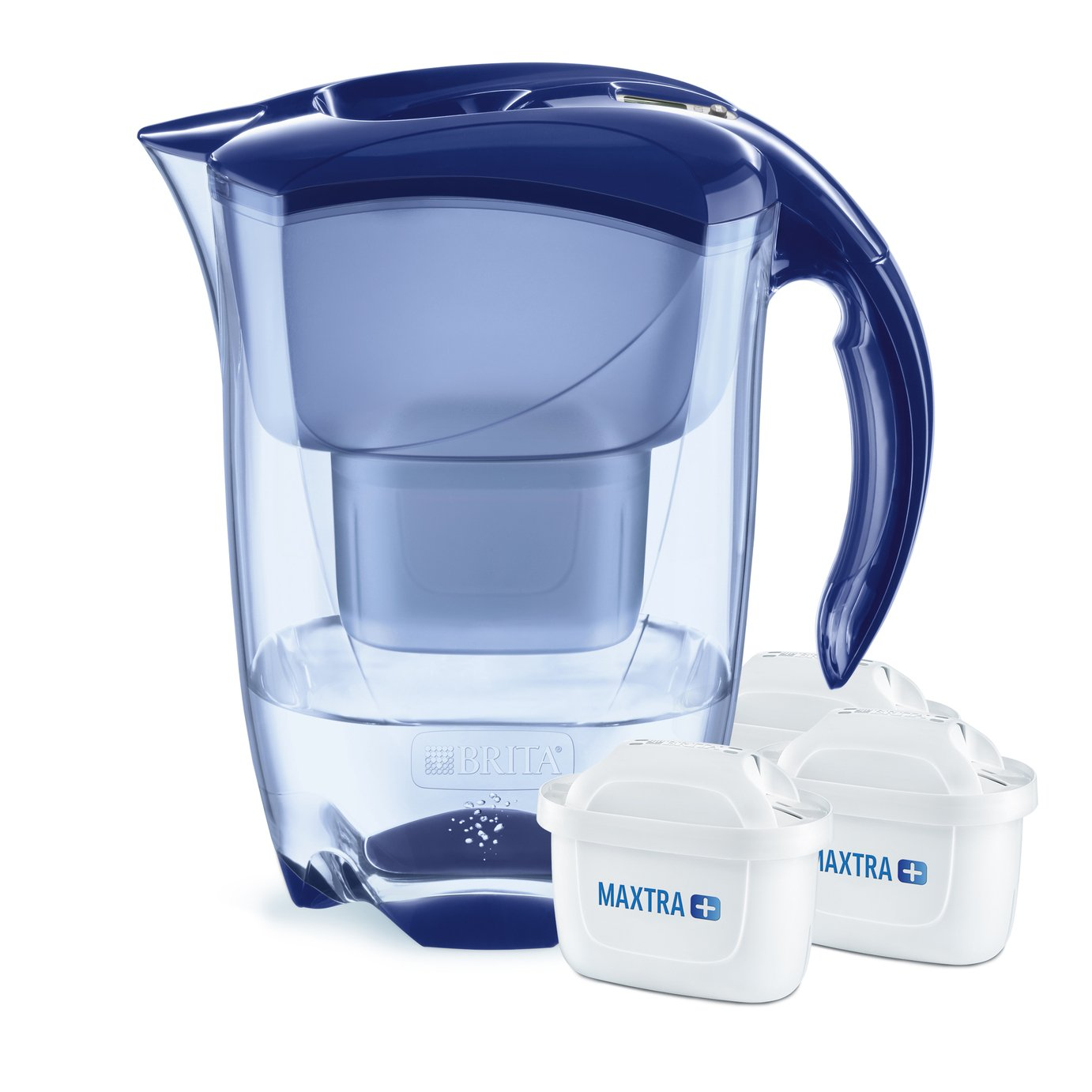 Image of Brita Elemaris Jug with 3 Filter Cartridges - Blue