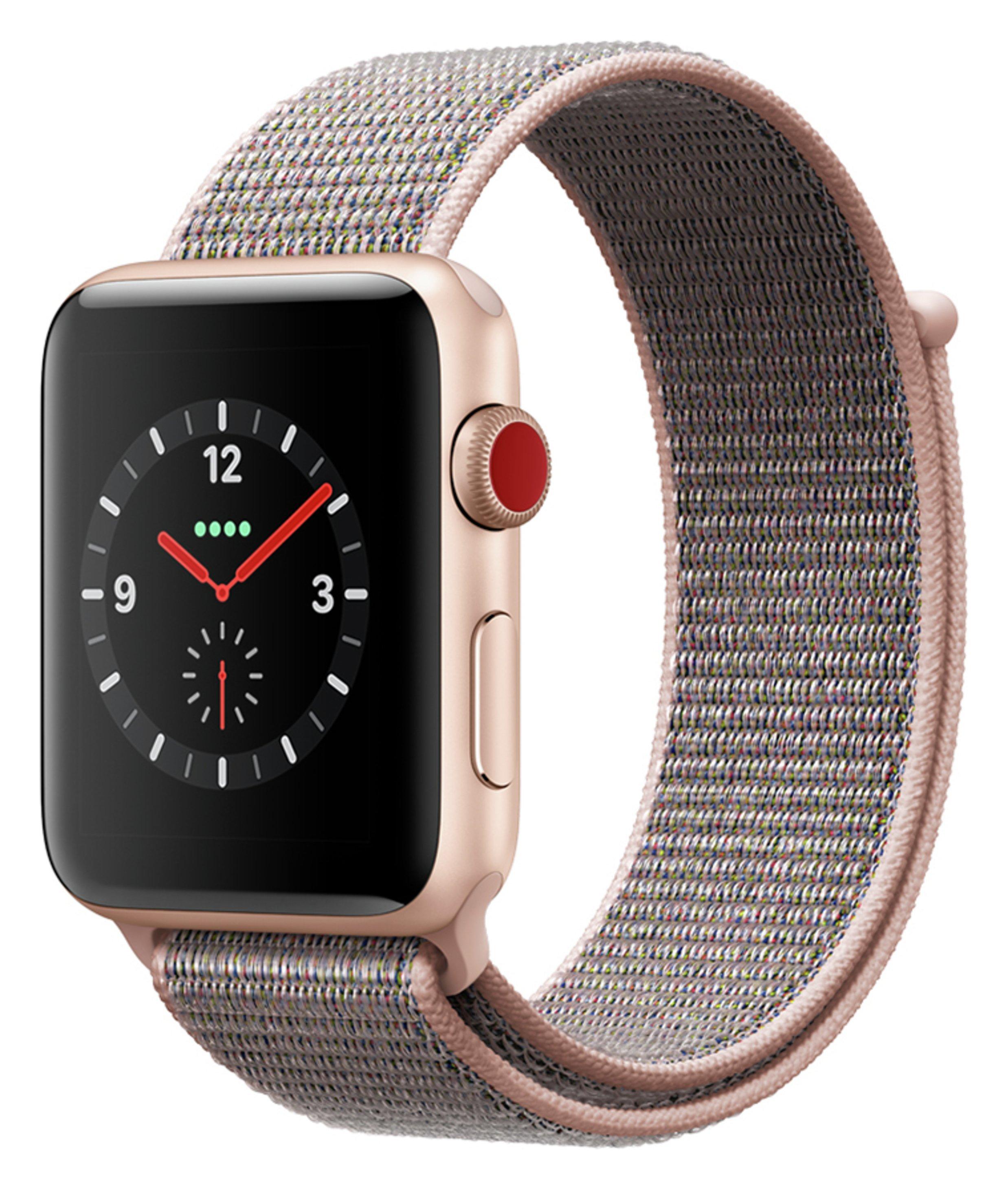Apple Watch S3 Cellular 38mm Gold Alu Case Pink Loop 7455287 Argos Price Tracker Pricehistory Co Uk