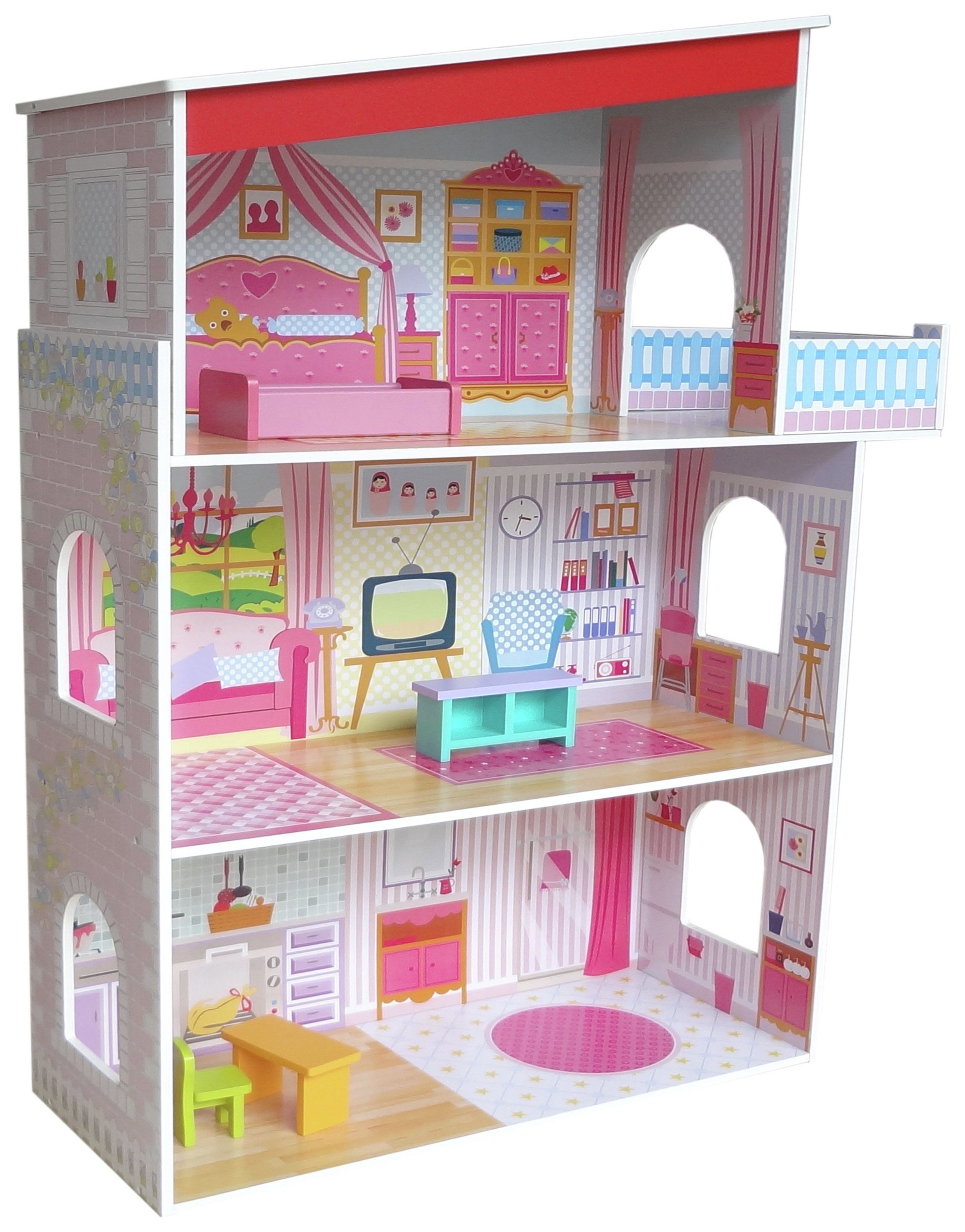 Kiddi Style Three Storey Wooden Mansion Dolls House review