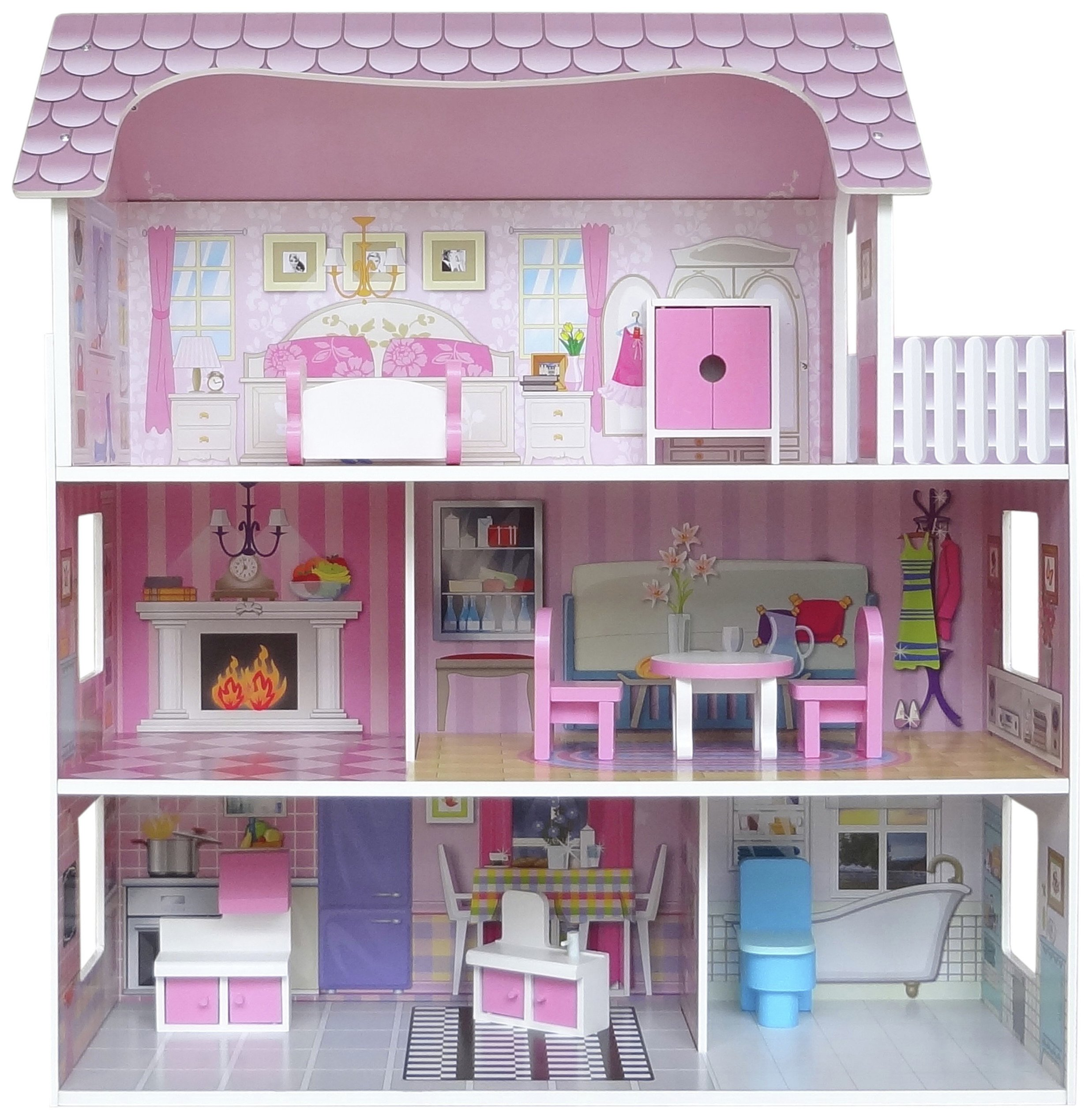 Kiddi Style Kid's Large Victorian Wooden Doll's House review