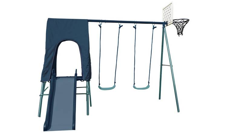 Chad Valley 2 in 1 Toddler and Kids Garden Swing - Blue