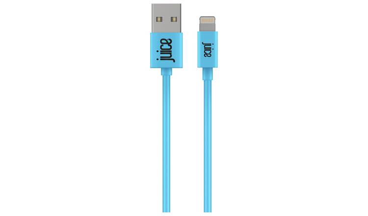 Juice USB to Lightning 2m Charging Cable - Aqua