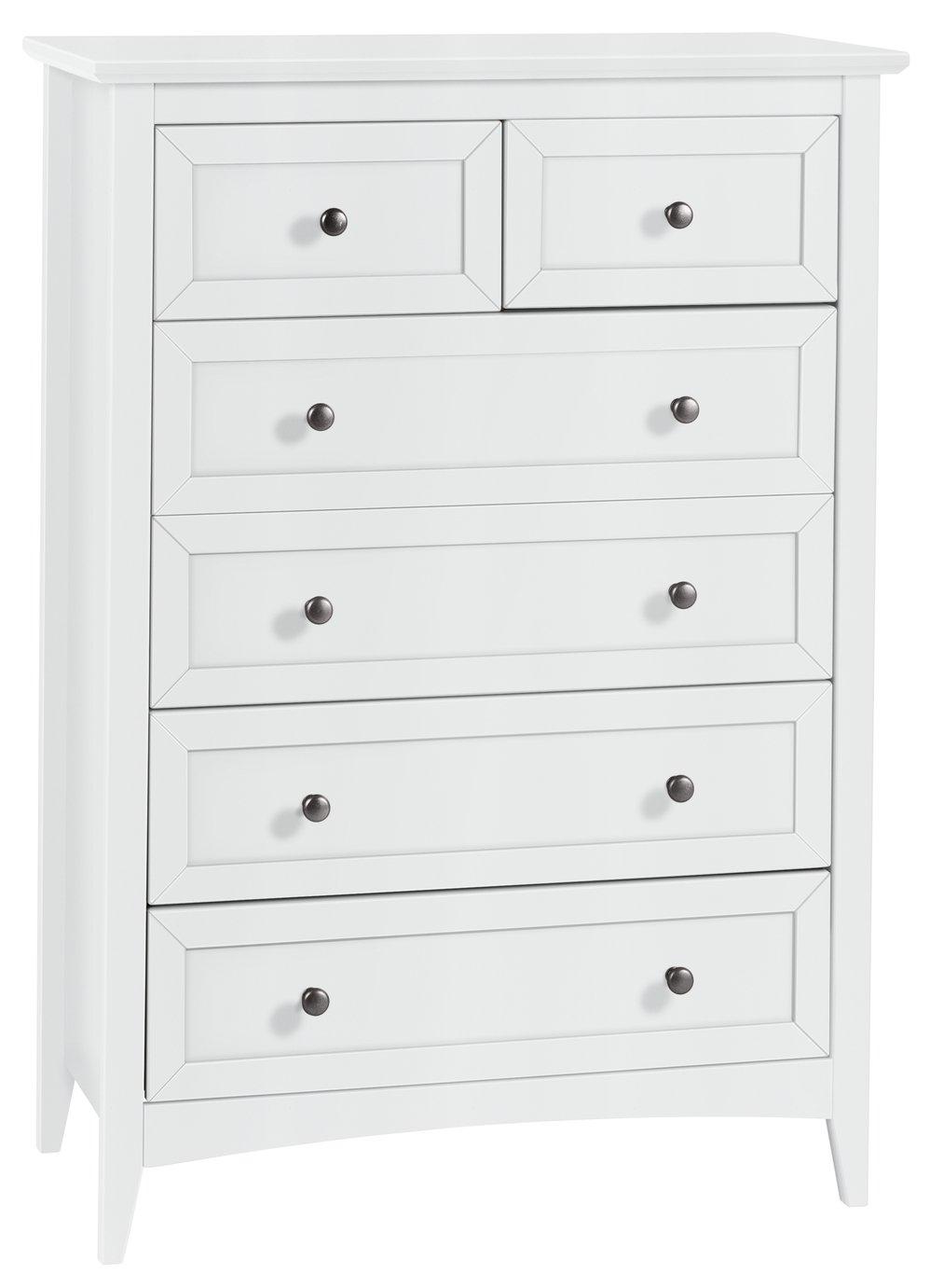 Collection Camborne 4+2 Drawer Chest - White