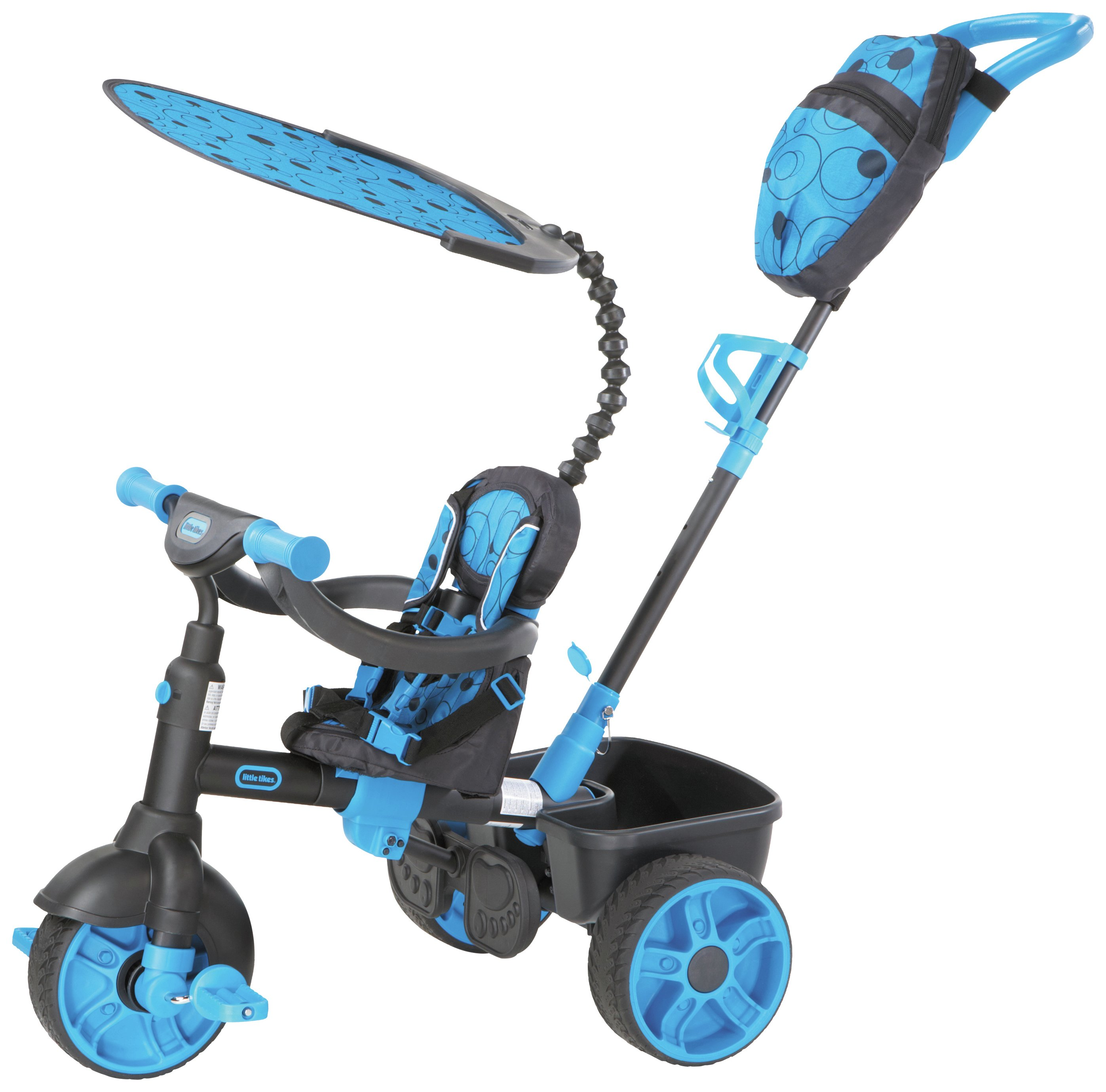 Image of Little Tikes 4-in-1 Deluxe Trike - Neon Blue