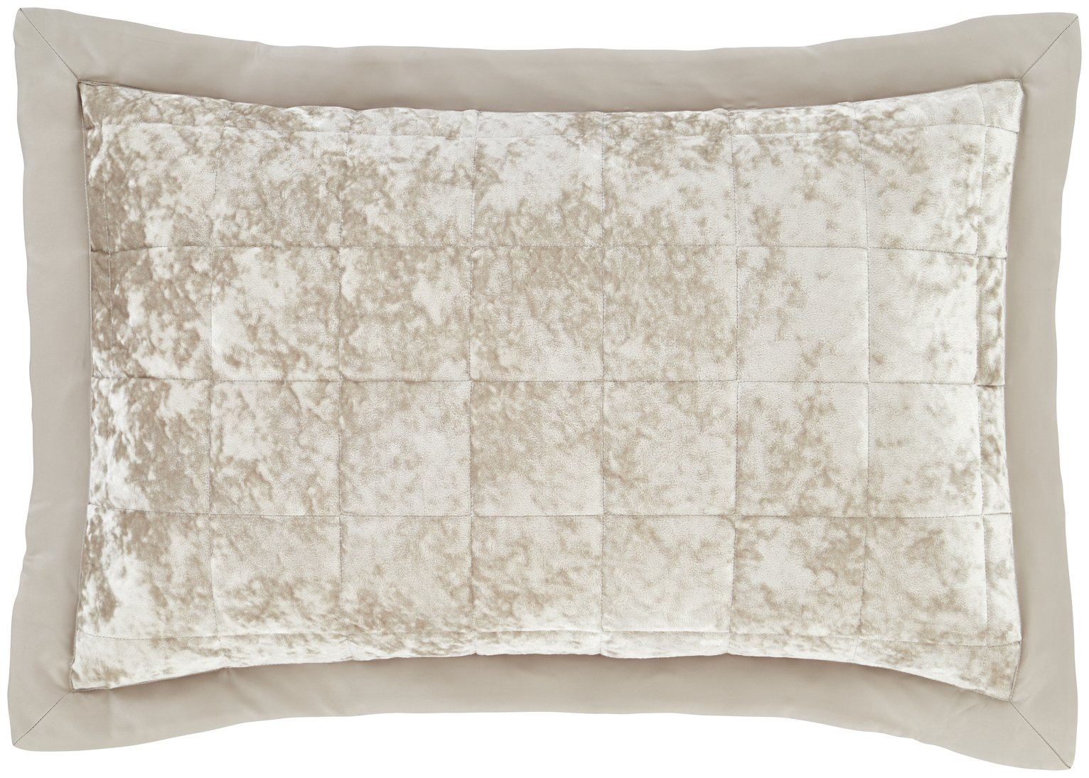 Catherine Lansfield Crushed Velvet Pillow Cover Pair - Nat