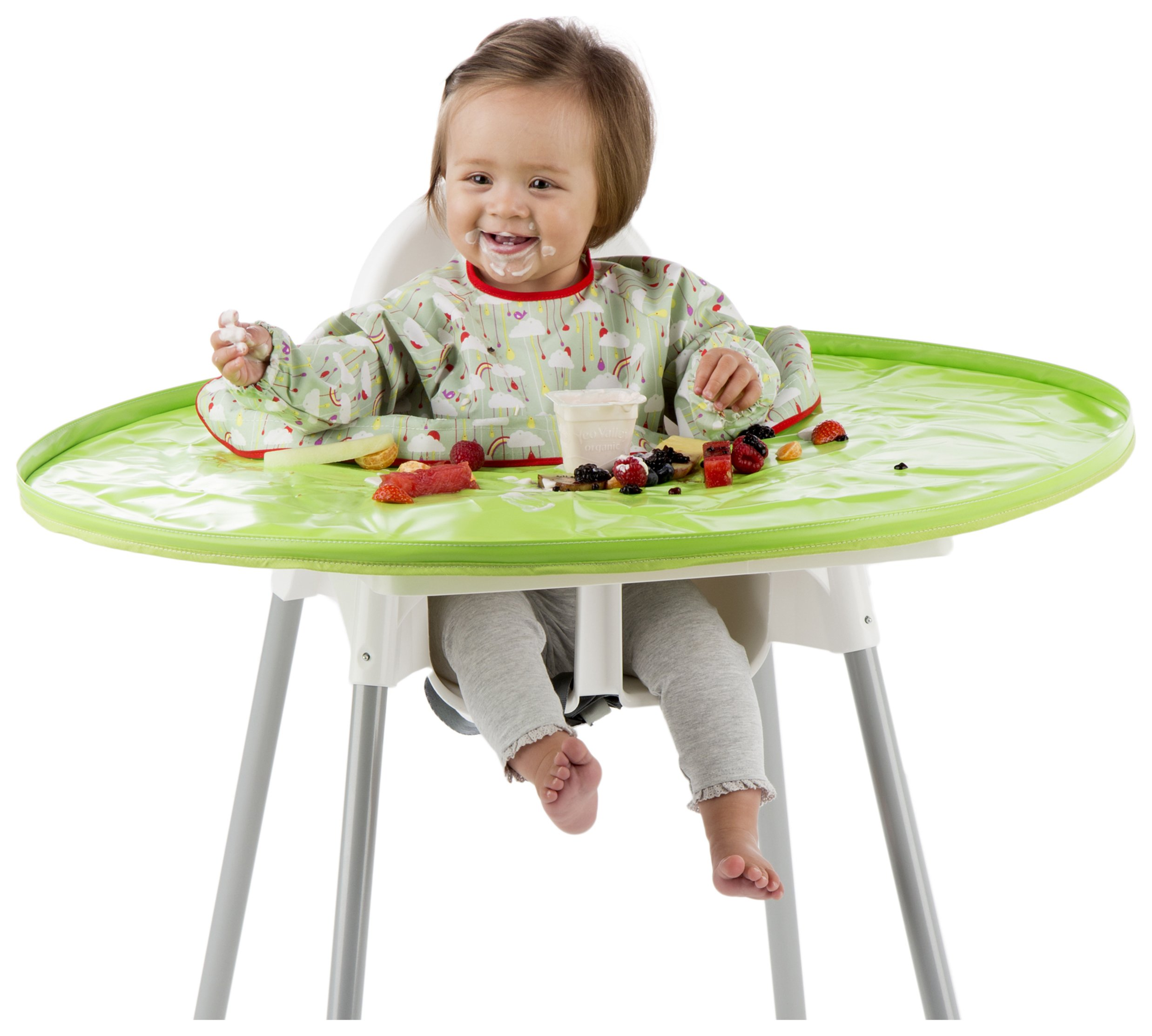 Image of Tidy Tot Bib Tray Kit - Fresh Green