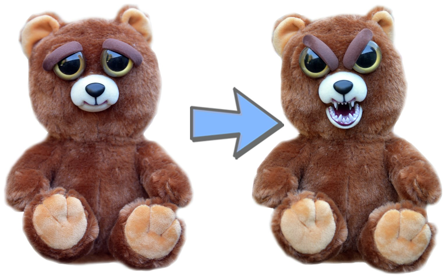 Image of Feisty Pets Sir Growls a Lot Bear Soft Toy.