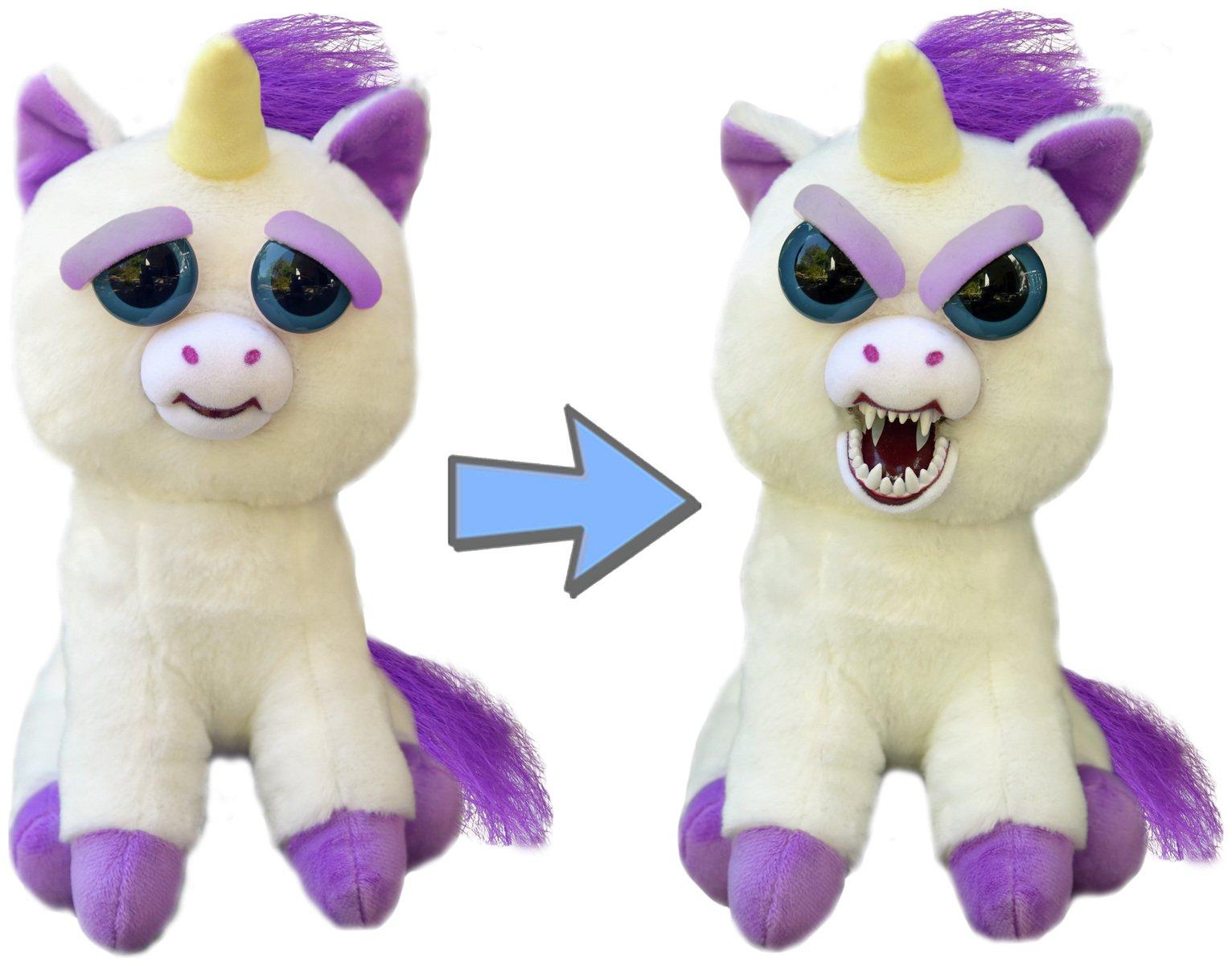 Image of Feisty Pets Glenda Glitterpoop Unicorn Soft Toy.