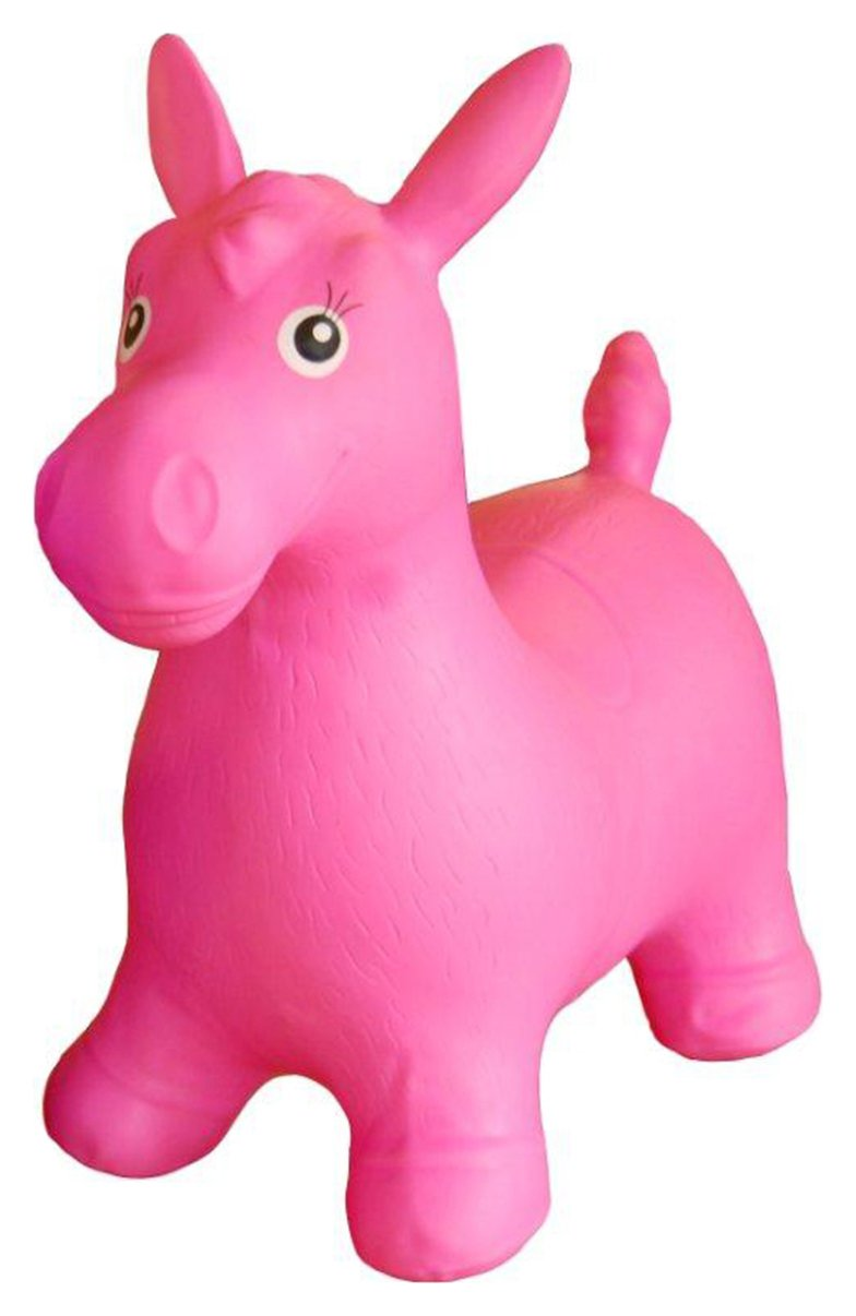 Image of HappyHopperz Inflatable Bouncer Horse - Pink.