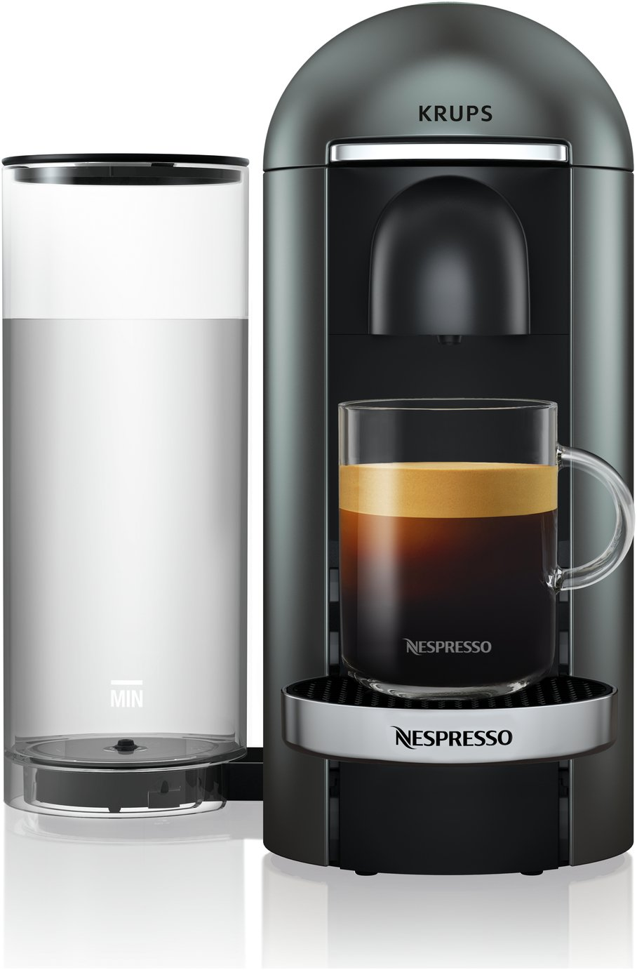 Nespresso by Krups Vertuo Pod Coffee Machine - Silver