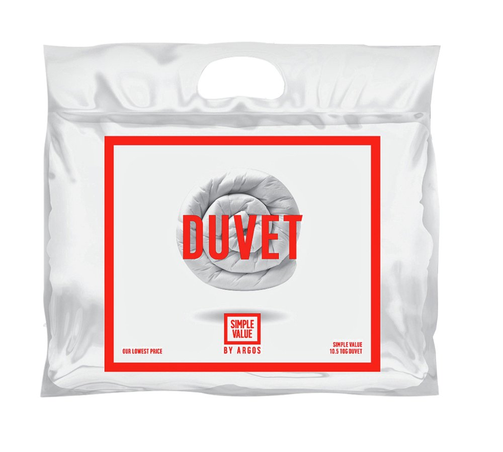 Simple Value 10 5 Tog Duvet And Pillow Set Double 163 11