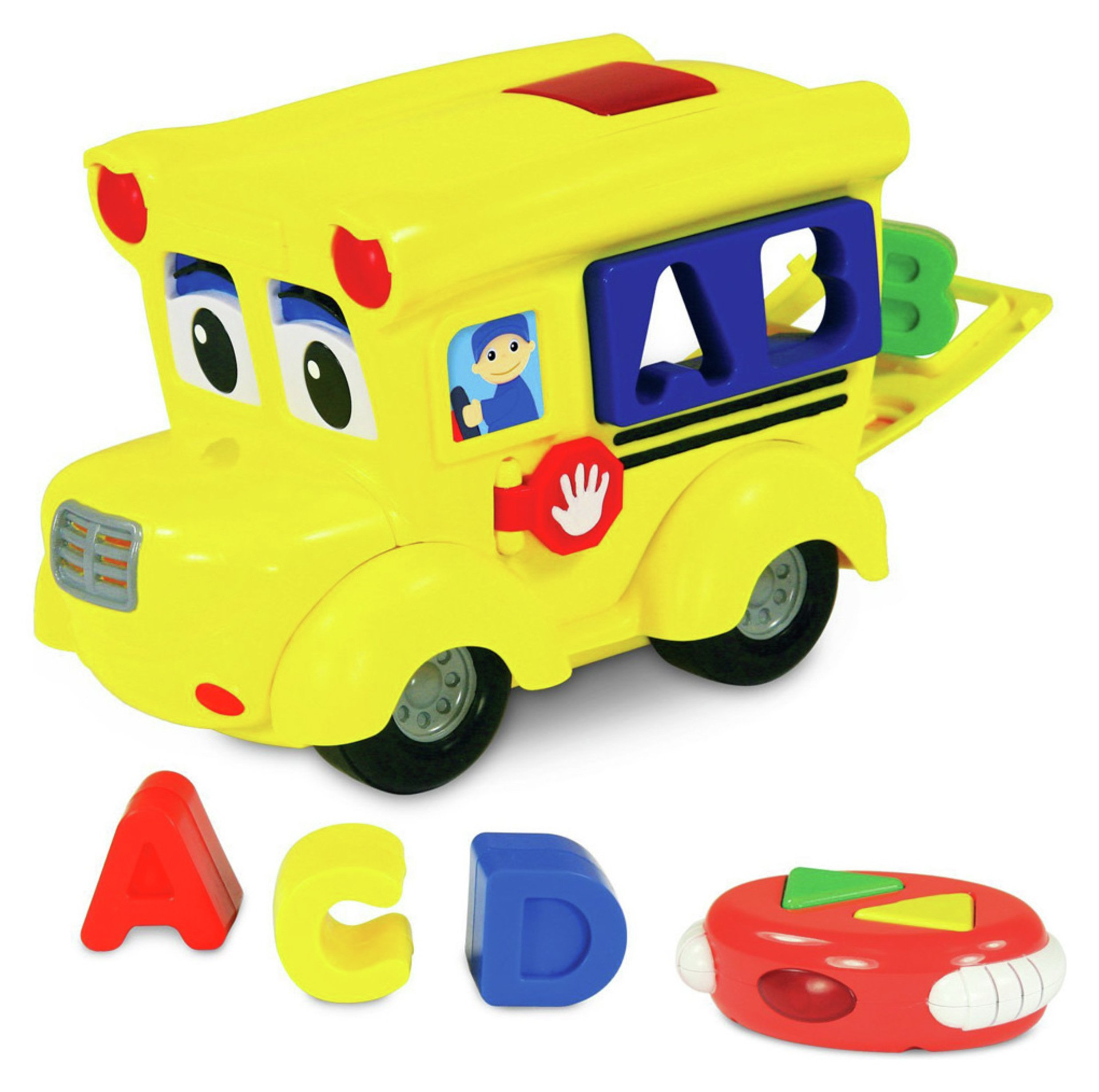 Remote Control Shape Sort Letterland Bus Playset.