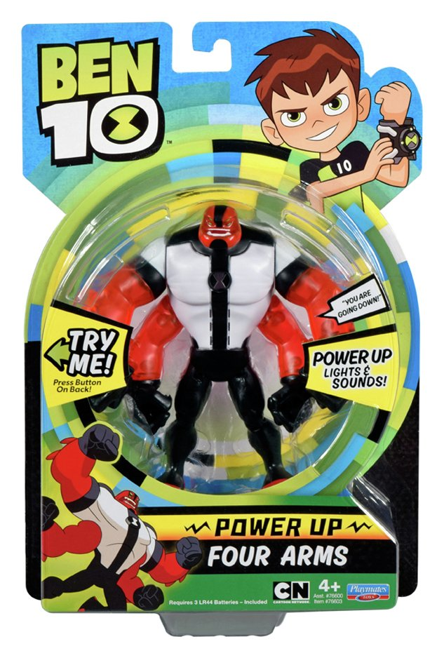 Image of Ben 10 Deluxe Power Up Four Arms Action Figure.