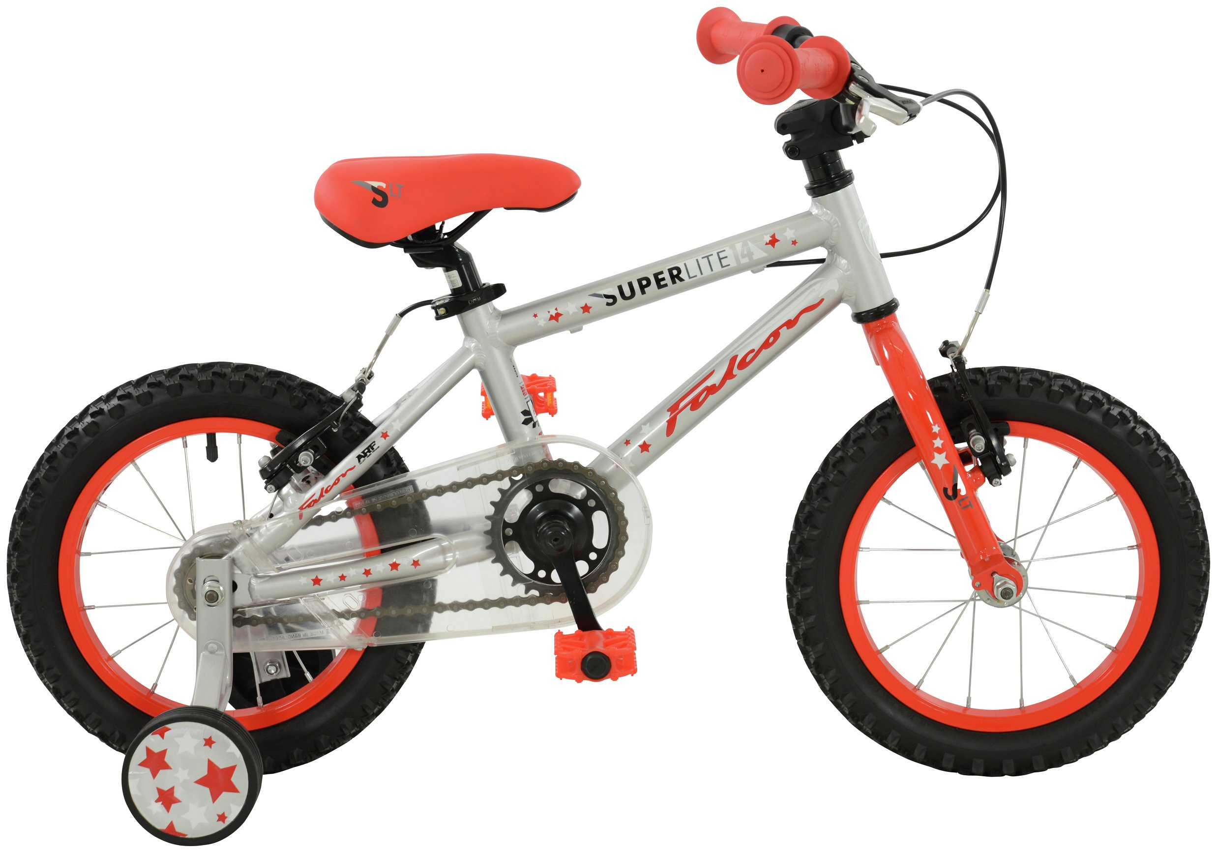 Image of Falcon Kids 14 Inch Alloy Superlite Bike - Red