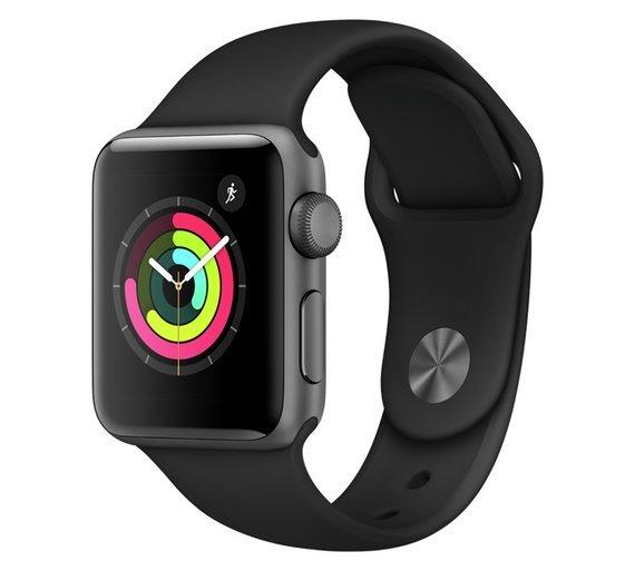 Apple Watch S3 GPS 38mm - Space Grey Aluminium / Black Band