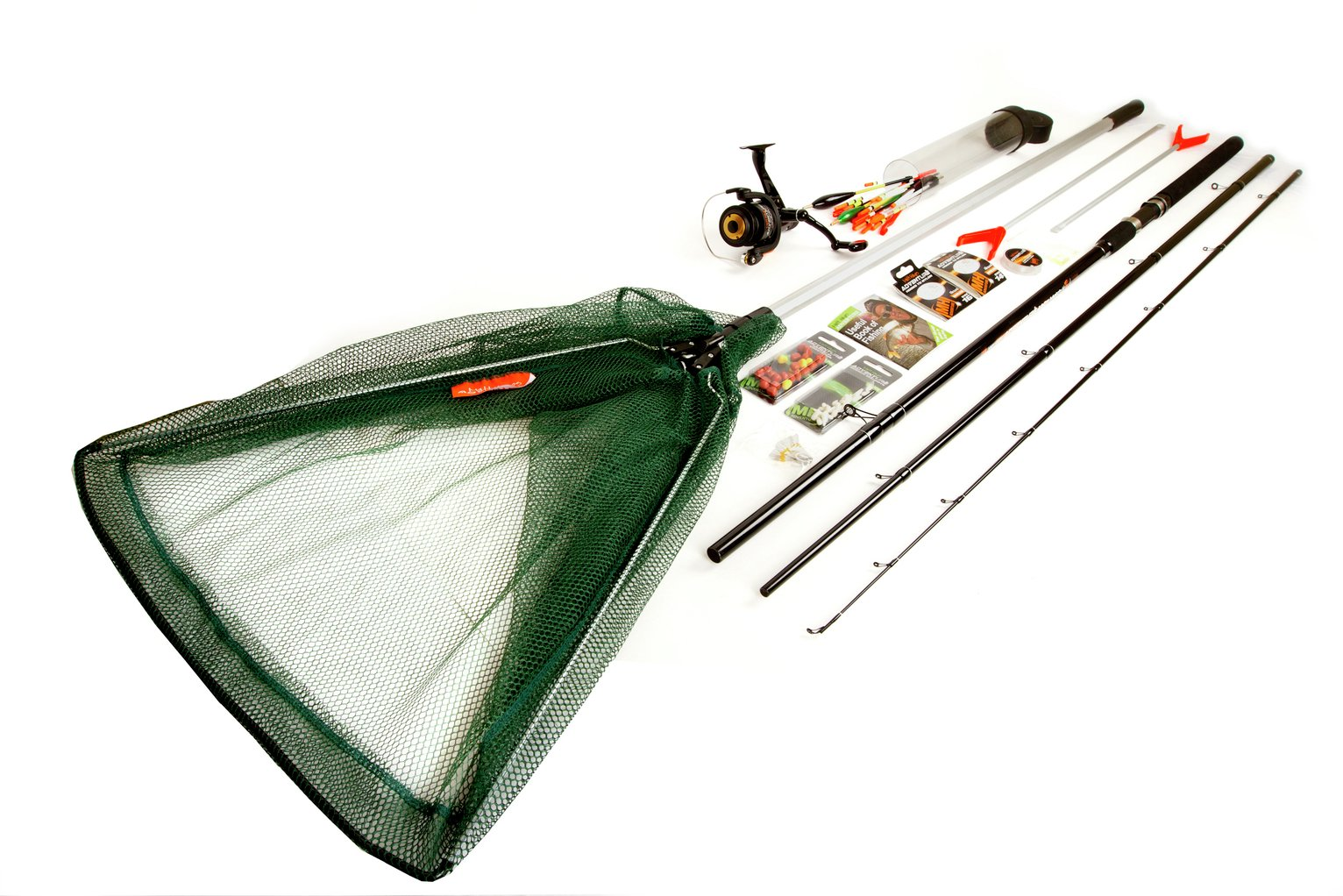 Image of Matt Hayes Coarse Fishing Kit with Net, Rods & Accessories.