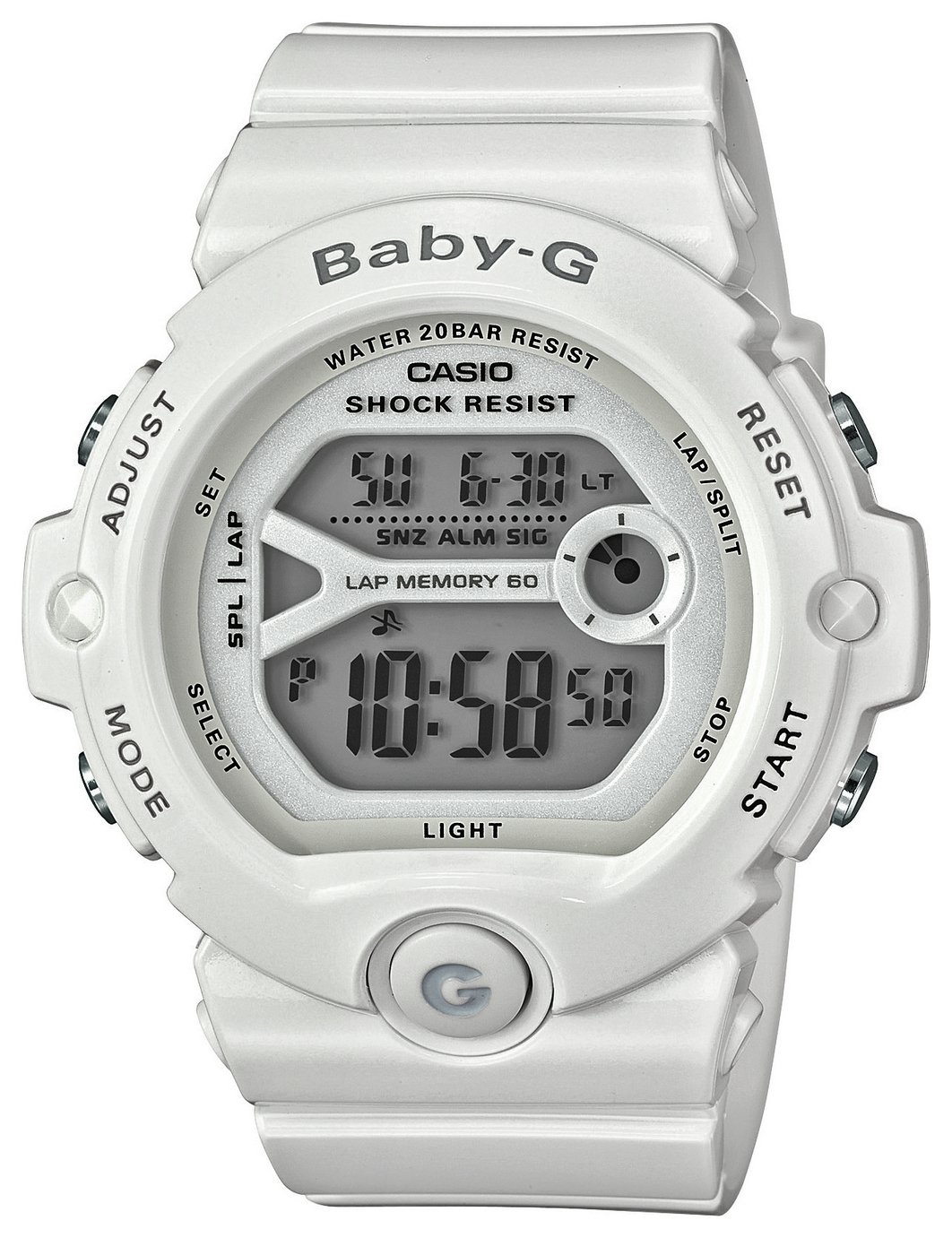 Image of Casio Baby-G Ladies' White Shock Resistant Watch