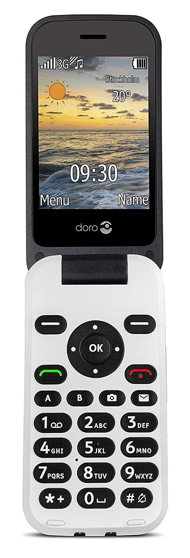 SIM Free Doro 6620 Mobile Phone - Black / White