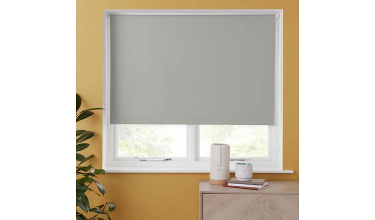 Argos Home Blackout Insulating Roller Blind 4ft - Cloud Grey