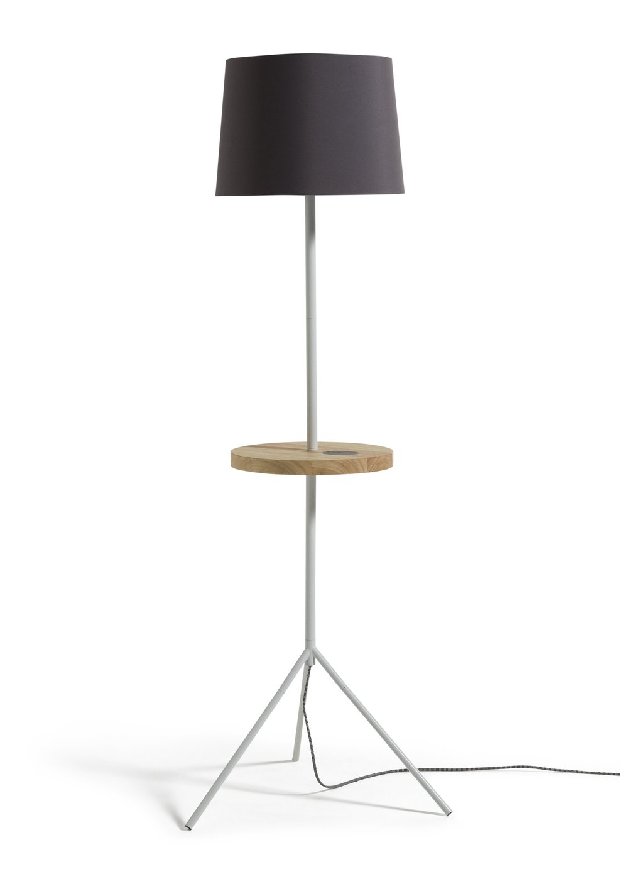 Argos Home Tripod Floor Lamp with Wireless Charging Shelf