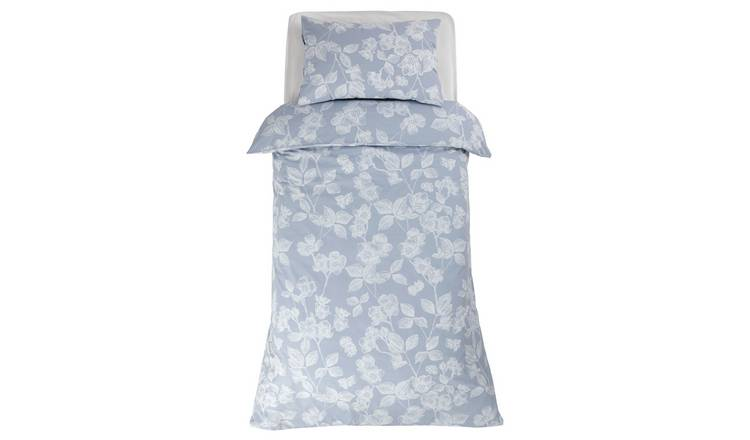 Argos Home Light Blue Floral Bedding Set - Single