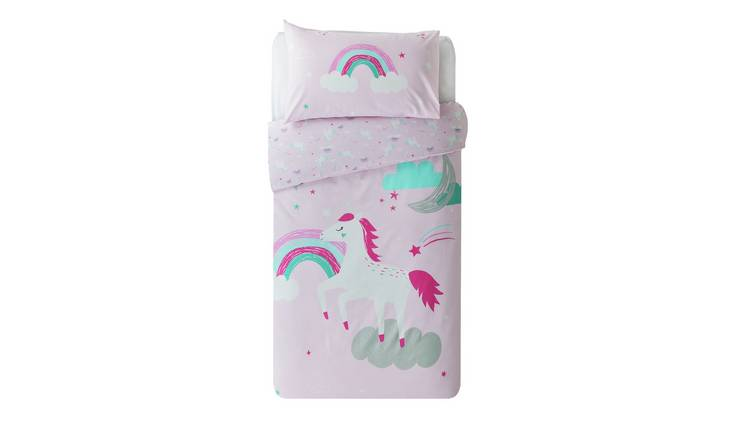 Argos Home Sparkle Unicorn Bedding Set - Toddler