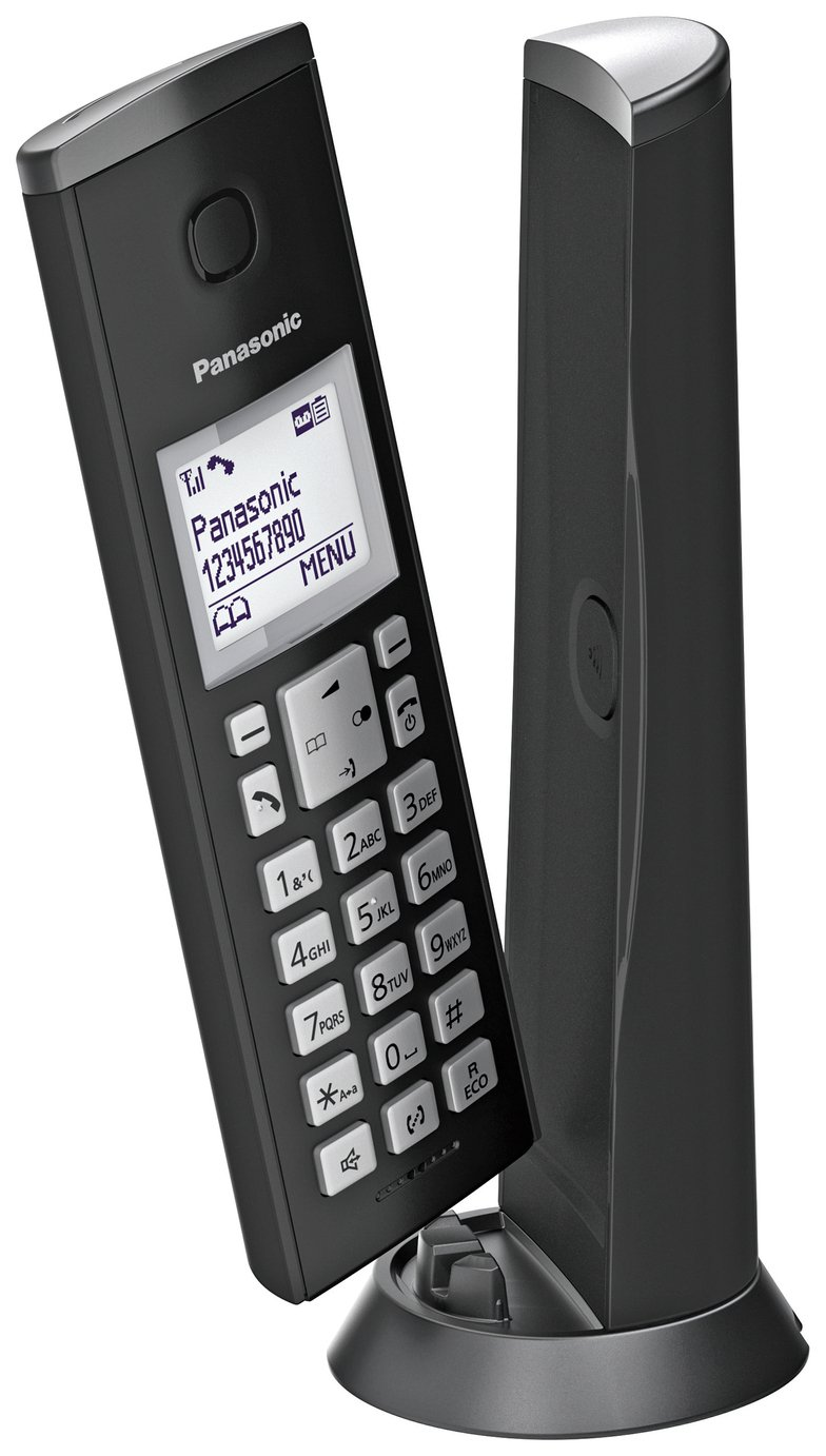 Panasonic KX-TGK220EB Cordless Telephone Dect-Black Single