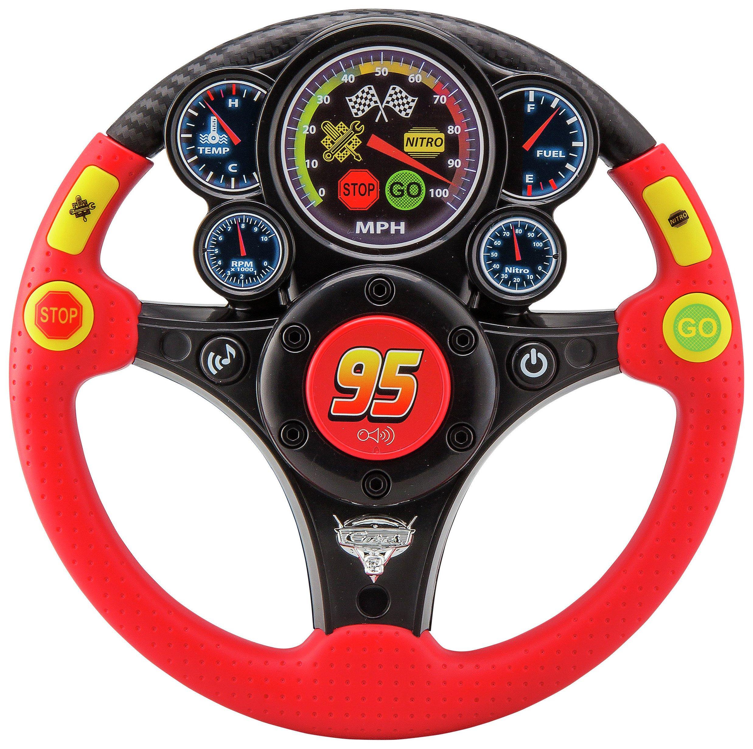 Image of Cars 3 Rev 'N' Roll Steering MP3 Wheel.