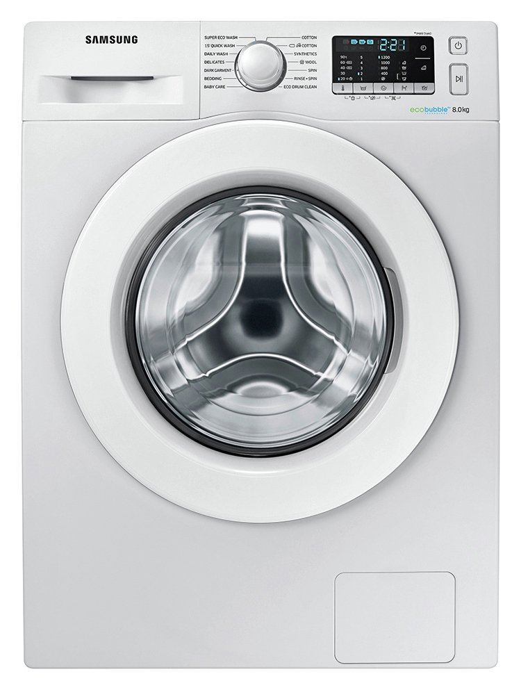 Image of Samsung WW80J5355MW 8KG 1200 Spin Washing Machine - White