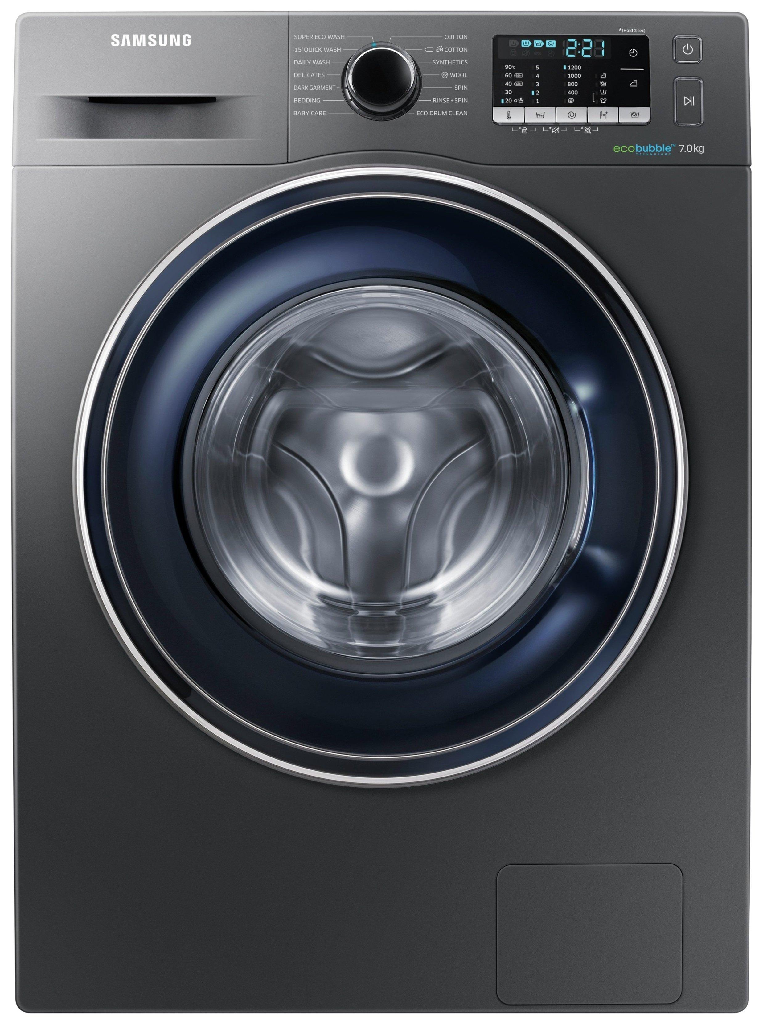 Image of Samsung WW70J5355FX 7KG 1200 Spin Washing Machine Graphite Del/Ins/rec