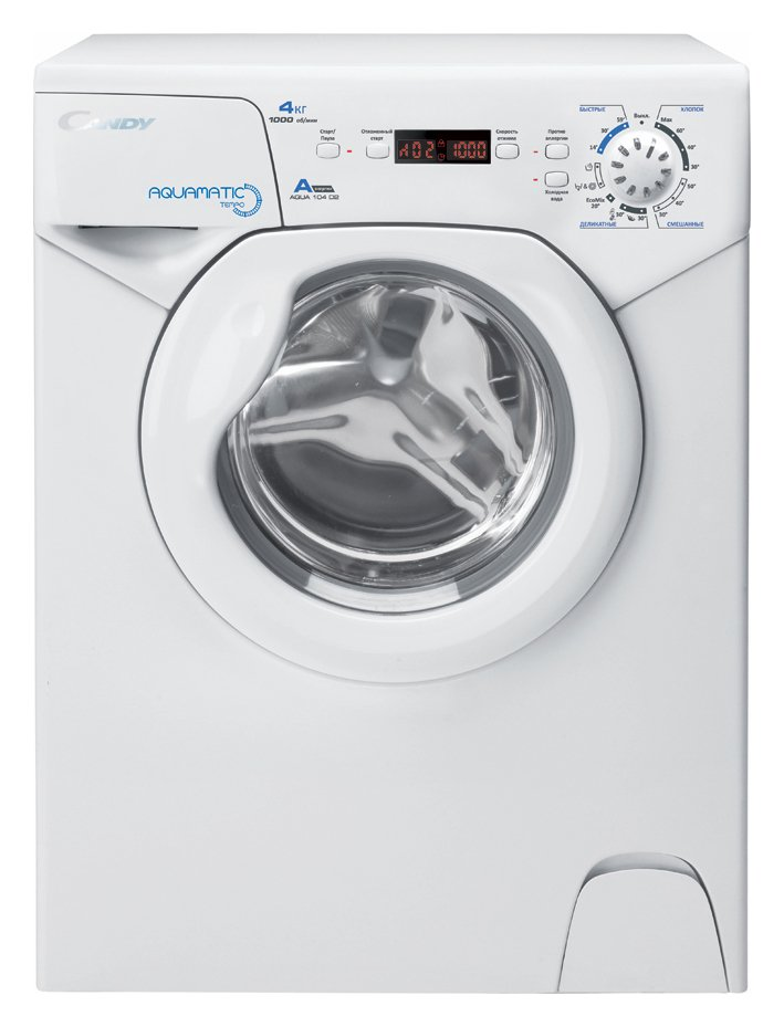 Image of Candy Aqua 1042D1 4KG 1000 Spin Washing Machine - White