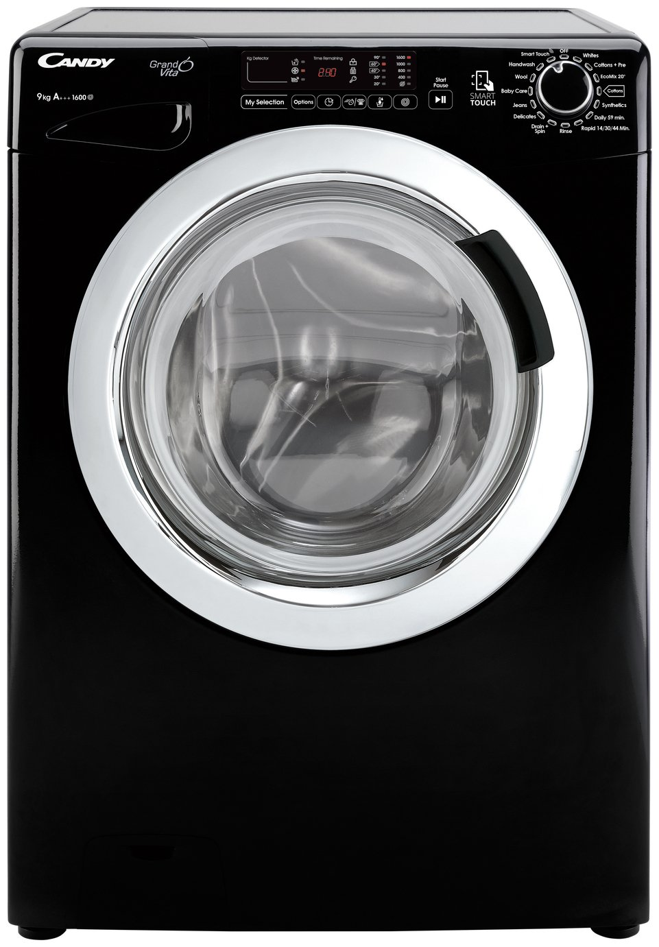 Candy GVS169DC3B 9KG 1600 Spin Washing Machine - Black