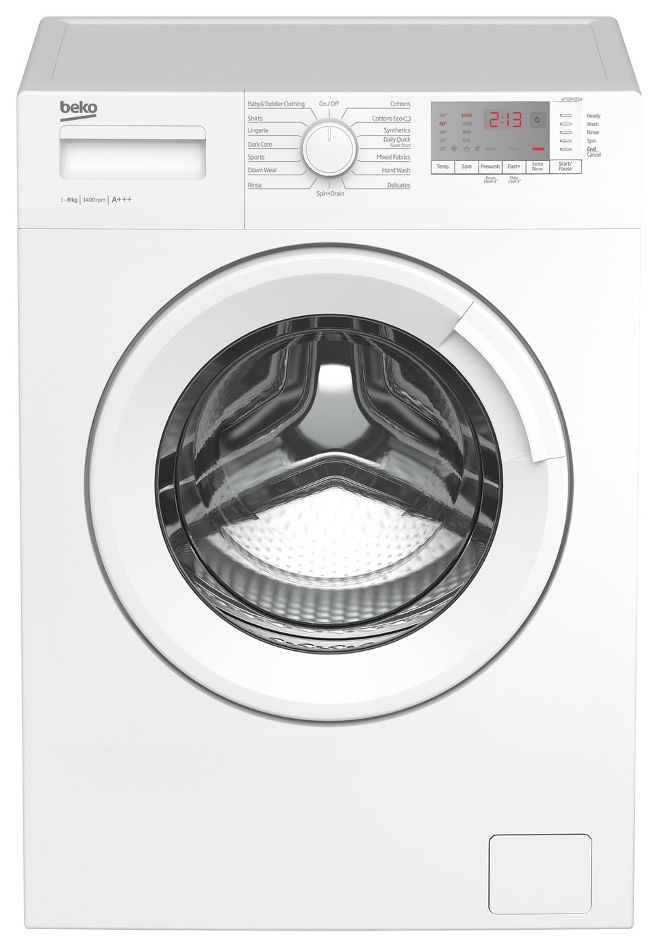 Beko WTG841B1W 8KG 1400 Spin Washing Machine - White Best Price, Cheapest Prices