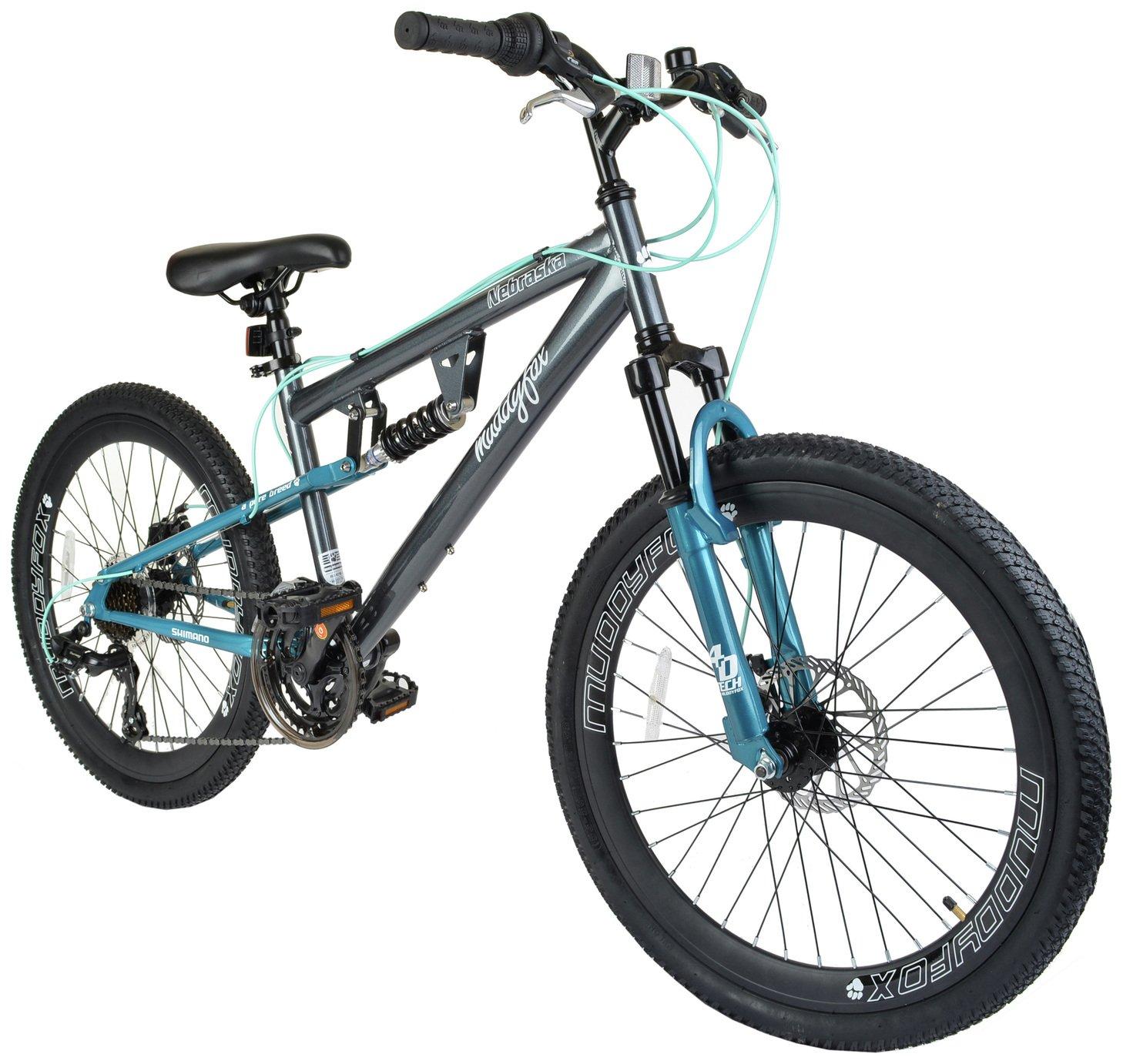 Muddyfox Nebraska 24 Inch Dual Supsension Kids Bike