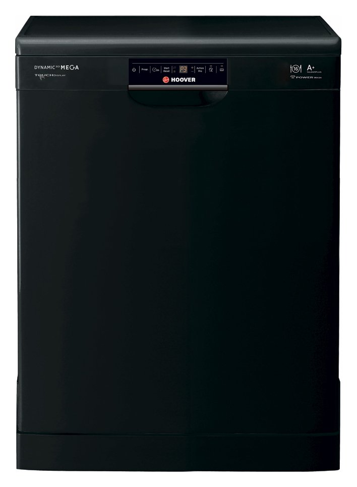 Image of Hoover HDP1T64PW3B Full Size Dishwasher - Black + Installation