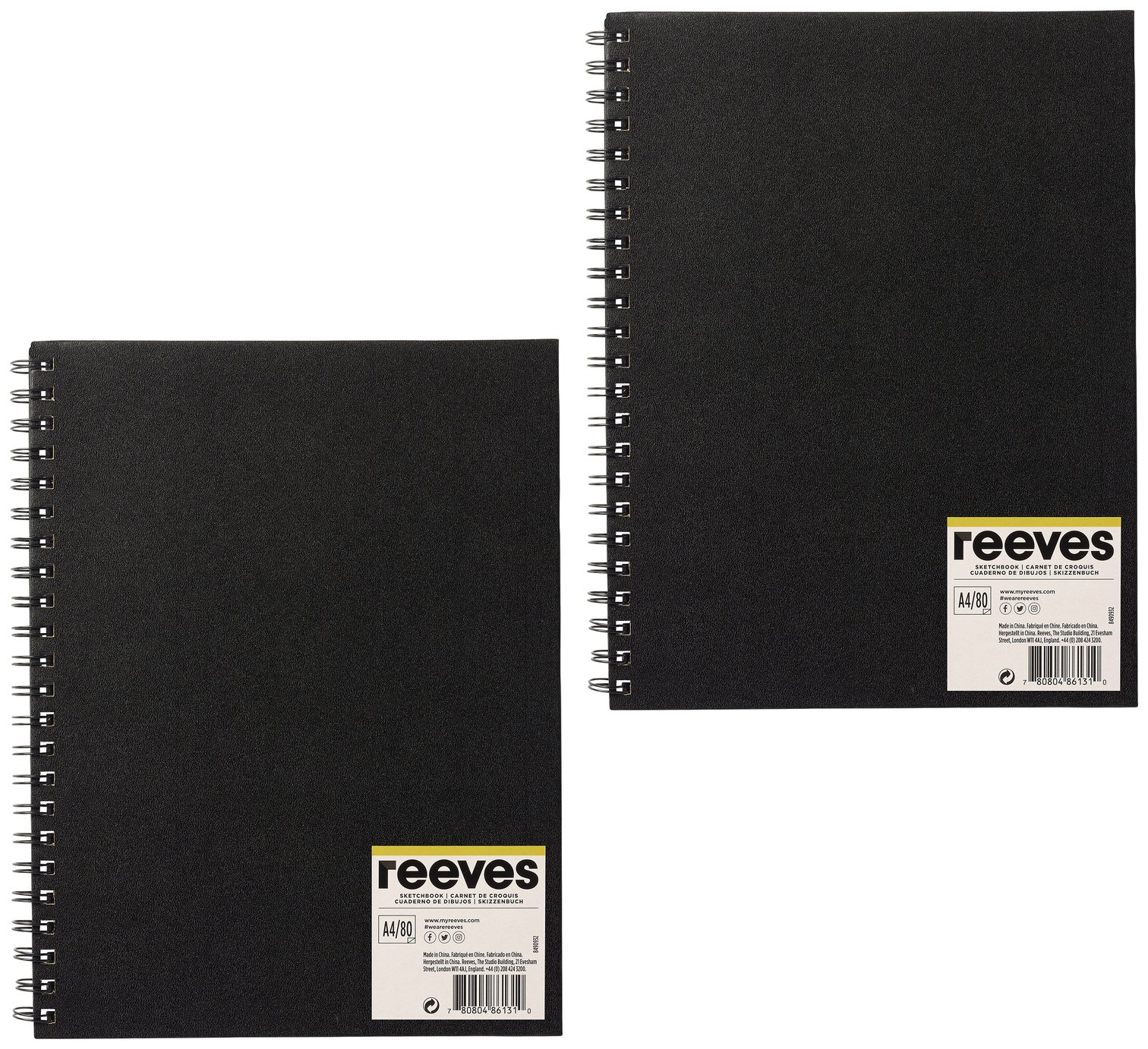 reeves-a4-sketch-book-2-pack