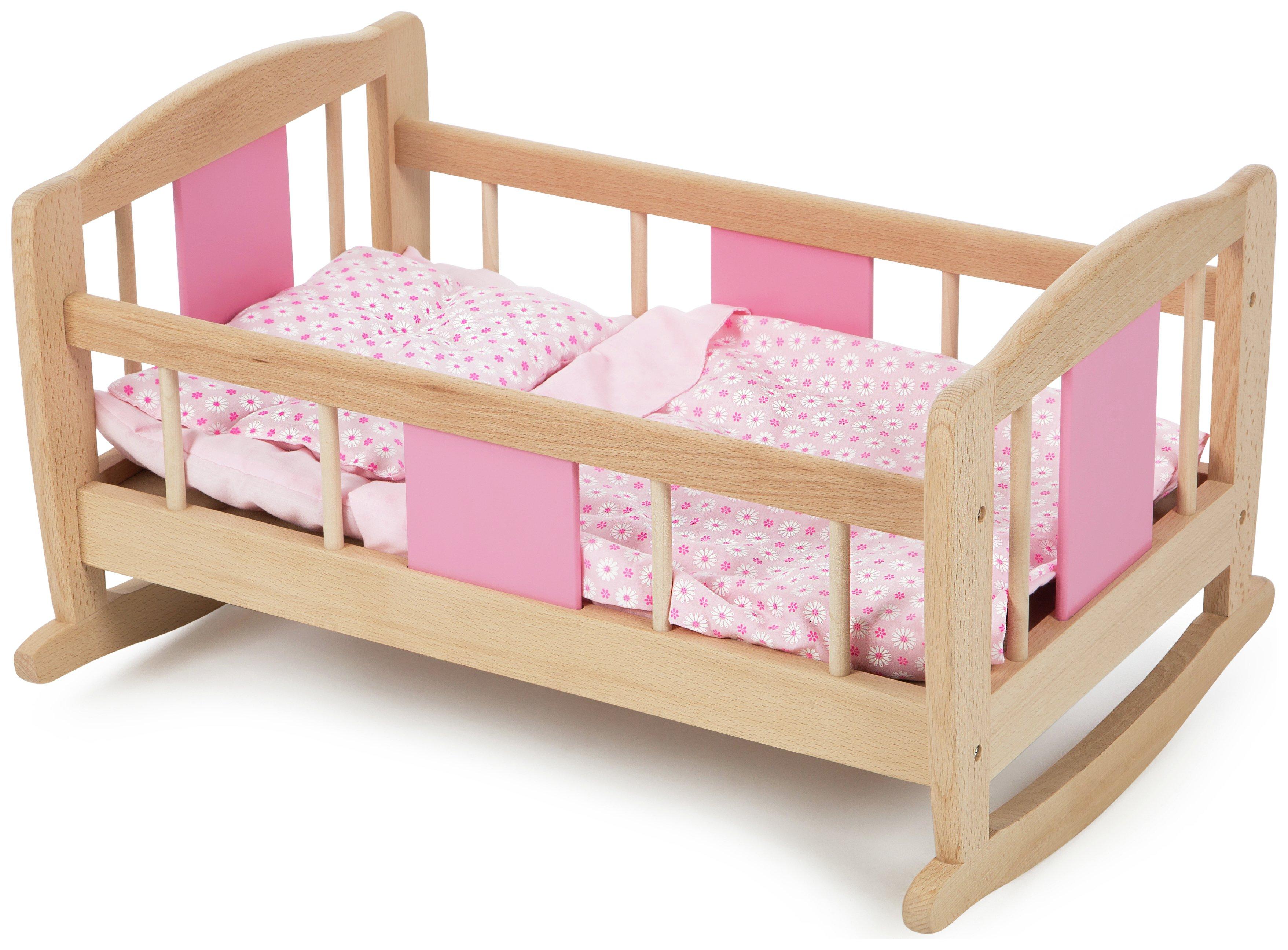 tidlo-doll-wooden-rocking-cradle-pink