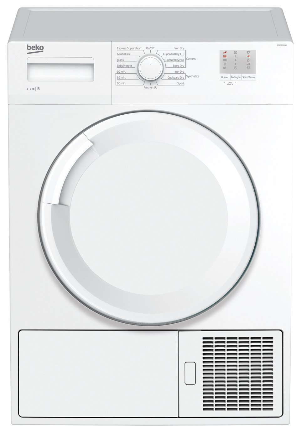 Image of Beko DTGC8000W 8KG Condenser Tumble Dryer - White