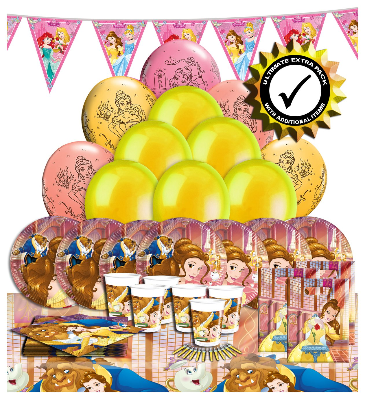 Disney Ultimate Extra Beauty and the Beast Party Pack