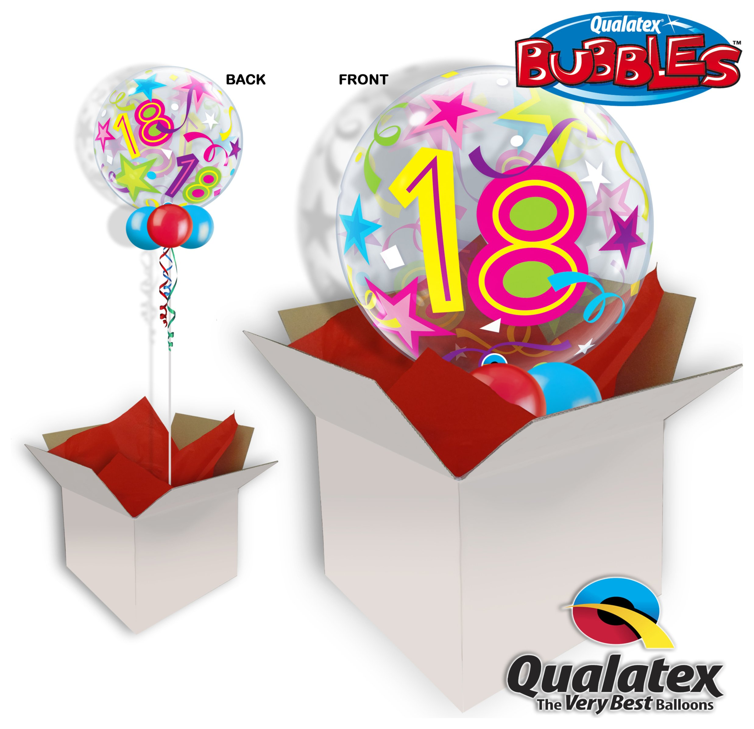 18th Birthday Brilliant Stars Sparkle 22 Balloon In A Box review