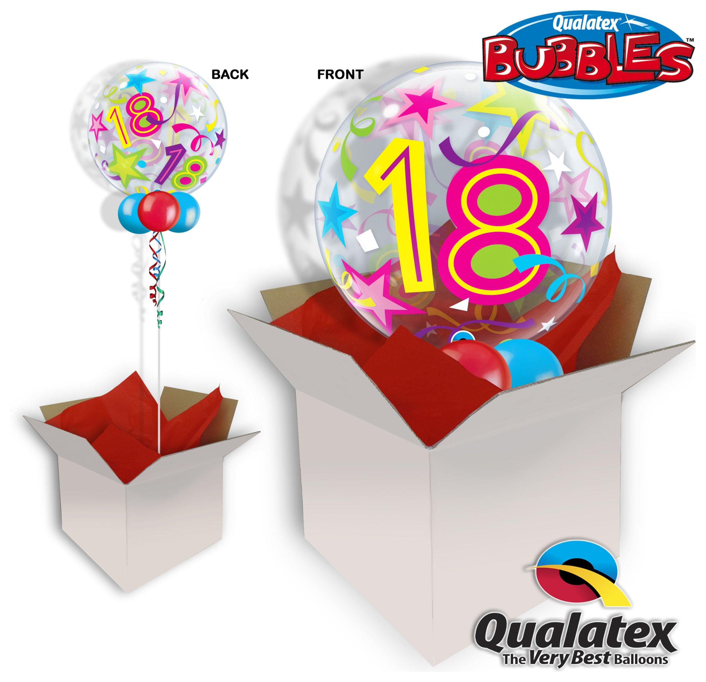 Image of 18th Birthday Brilliant Stars Sparkle 22 Balloon In A Box