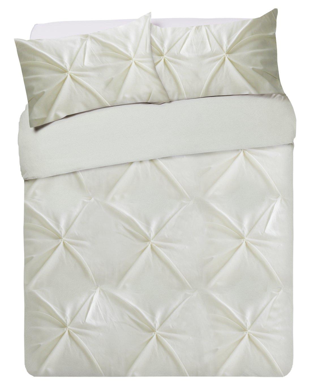 b9e3394f6af Argos Home Hadley Cream Pintuck Bedding Set - Double (7474701 ...