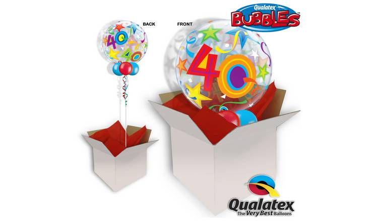 40th Birthday Brilliant Stars Bubble Balloon In A Box