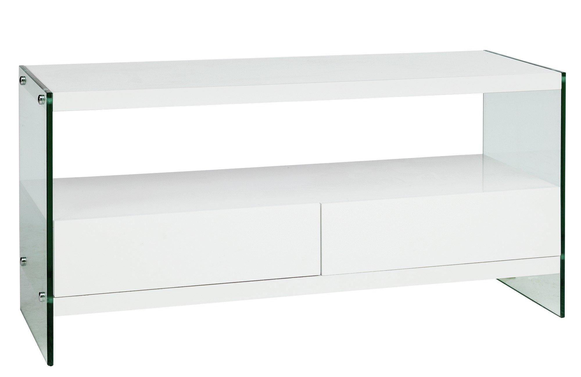 save off c632a abb21 Argos Home Kaspa TV Unit - White Gloss & Glass