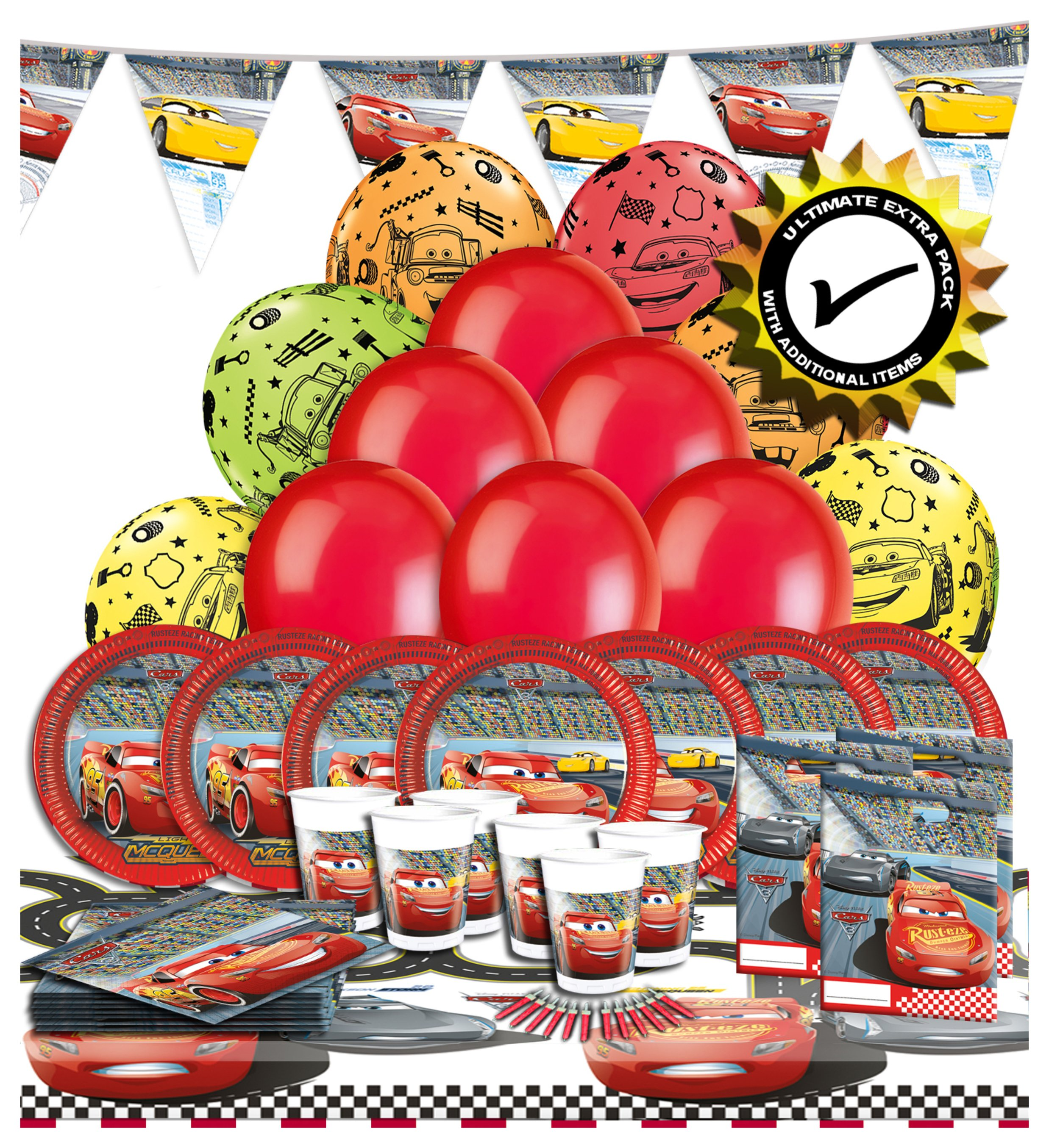 Image of Disney Pixar Ultimate Extra Cars 3 Party Pack
