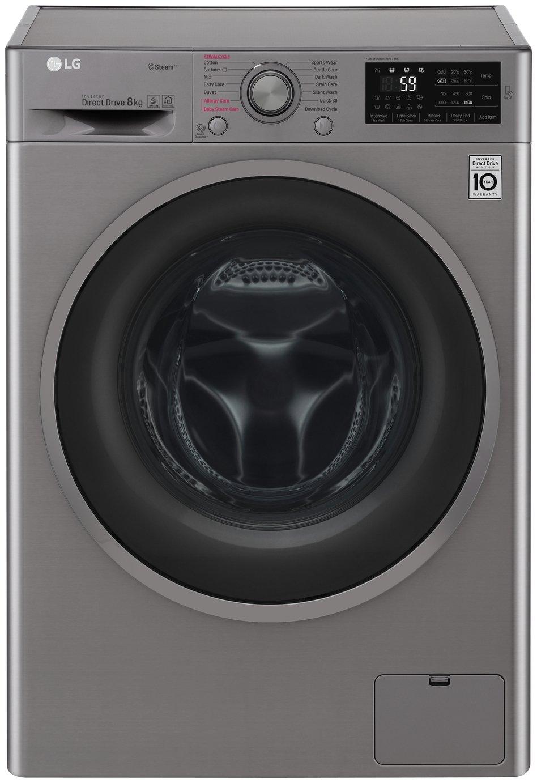 Image of LG F4J6TY8S 8KG 1400 Spin Washing Machine - Steel