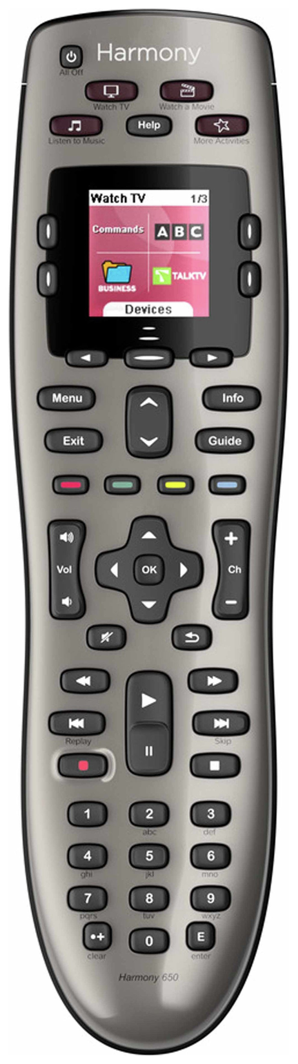 Image of Logitech Harmony 650 Universal Remote Control
