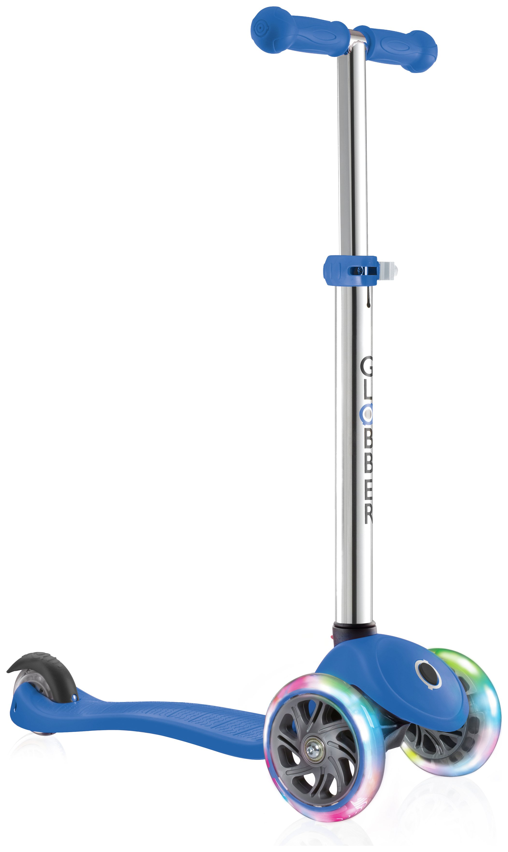 Globber Primo Lights 3 Wheel Scooter - Navy Blue